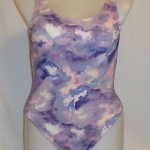 Victoria's Secret PINK SwimSuit M Tie Dye Purple